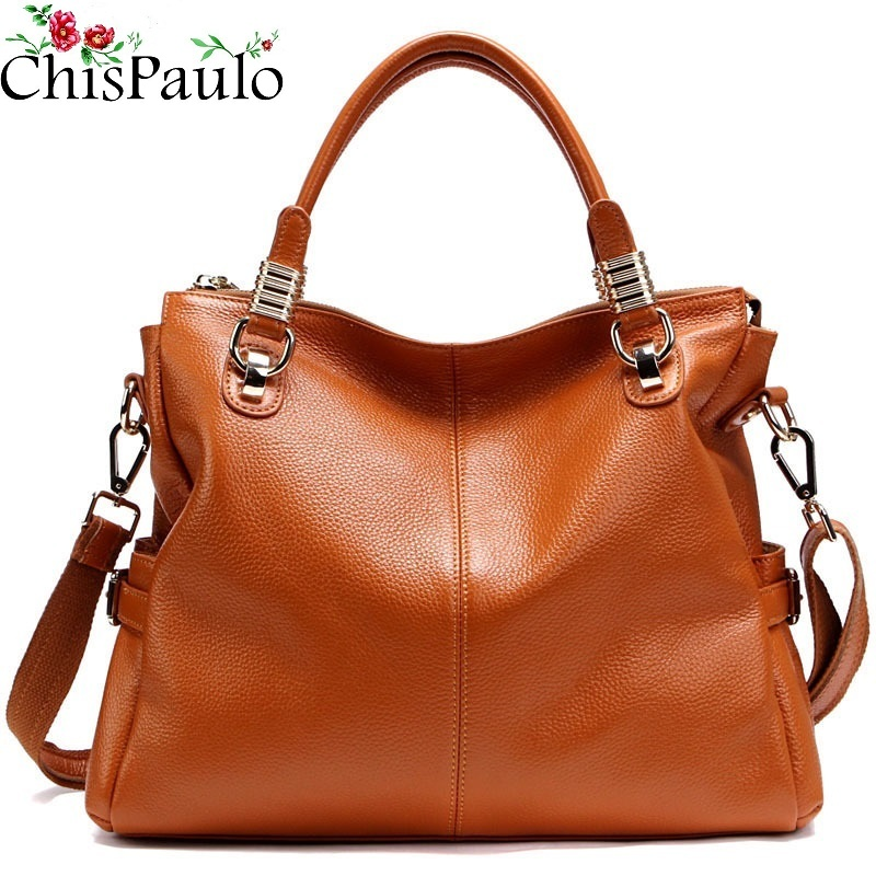 CHISPAULO Woman Bags NEW 2017 Famous Brands Designer Handbags High Quality Cowhide Fashion Women's Genuine Leather Handbags T236 chispaulo 2017 women genuine leather handbag small new famous brands summer handbags high quality tote bag bolsa femininas c166
