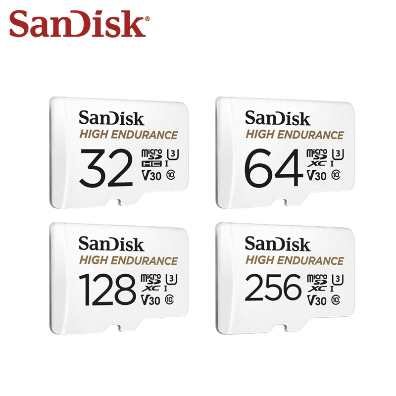 Original SanDisk Memory Card 64GB 32GB Class 10 U3 V30 High Speed 100M s 128GB High Endurance Micro SD Card For Video Monitoring