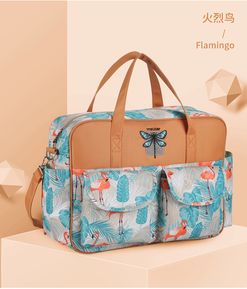 Stylish Large Diaper Tote Bag Cute Nappy Mommy Maternity Baby Bag For Shoulder Messenger Stroller