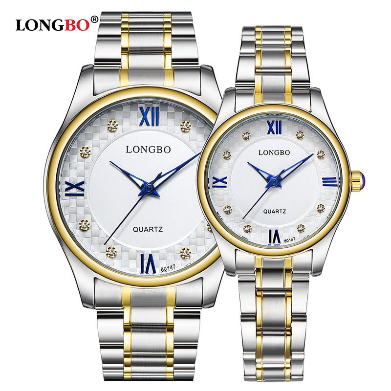 LONGBO Fashion Brand Casual Business Brief Stainless Steel Waterproof Quartz Watch Luxury Wristwatches Mens Watches 80147