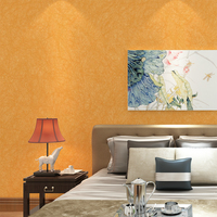 HaokHome Solid Color Non Woven Wallpaper Orange Modern Silk Wallcovering Simple Wall Paper For Livingroom Bedroom