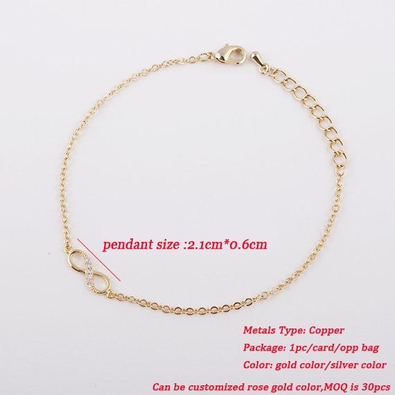 Jisensp New Fashion Cinta Infinity Gelang untuk Wanita Pribadi - Perhiasan fashion - Foto 2