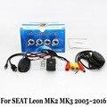 Câmera de Visão Traseira do carro/Para SEAT Leon MK2 MK3 1 P 5F 2005 ~ 2016/RCA Fio Ou Sem Fio HD Lente Grande Angular/CCD de Visão Noturna câmera