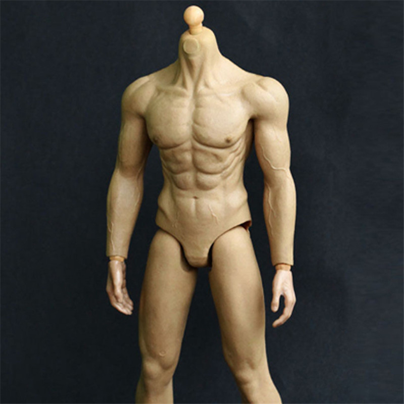 Mnotht HJ001 Male Solider Body Model 16 Skin Color Rubber Layer Muscular Body Fit 12 HT Male Figure l30