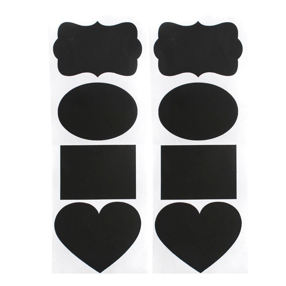 48 pz nero lavagna pvc della decalcomania di arte della cucina vaso label tag decor fai