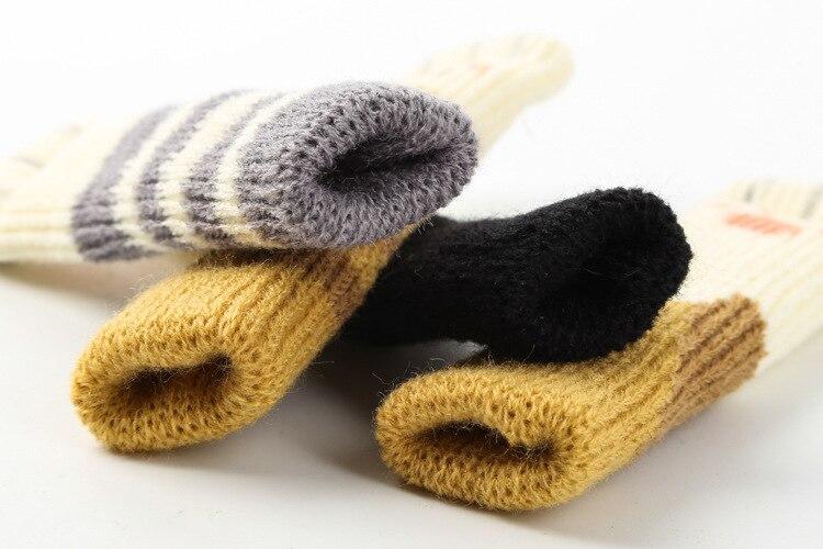 4pcs Knitting Cat Style Chair Leg Socks Floor Protectors For Furniture Legs Non slip Table Legs
