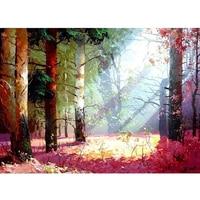 NEW DIY 3D Diamond Painting Quiet Twilight Woods 5d Diy Diamond Embroidery Cross Stitch Canvas Oil