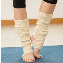 Knitted Leg Warmers For Women Yo-ga Socks Boot Cuffs Winter Bodybuilding Socks Polainas Para As Mulheres Gaiters(China)