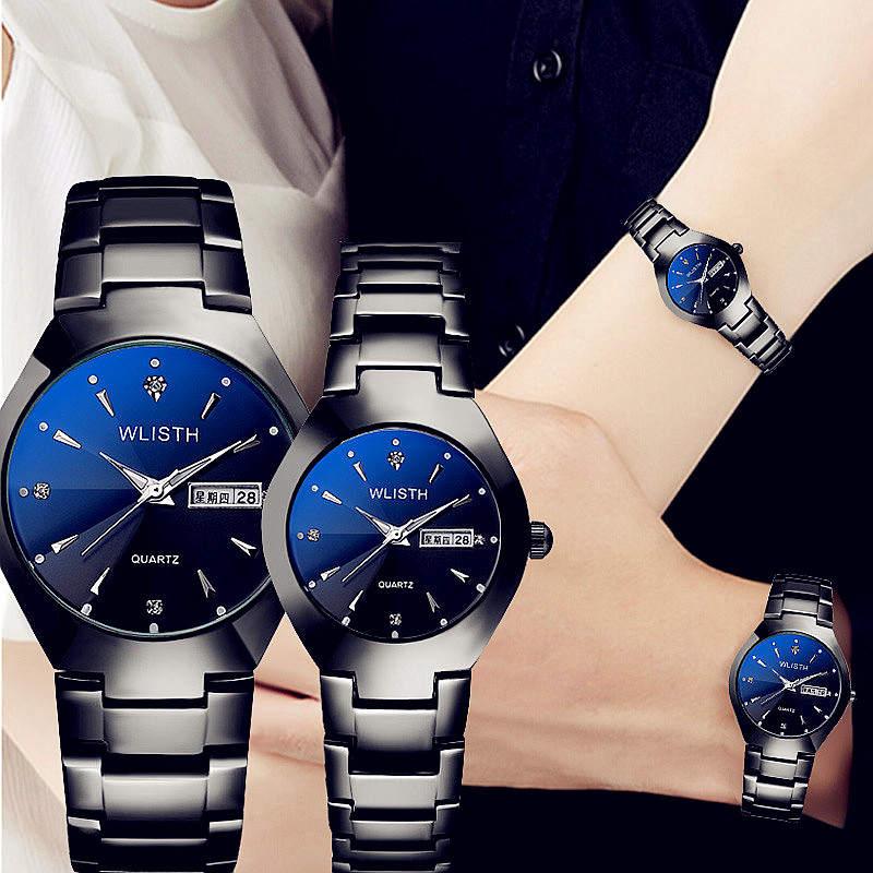 WLISTH Brand Luxury Lover Watches Quartz Calendar Dress Women Men