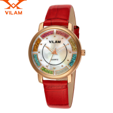 Vilam Women Watches Top Brand Luxury Leather Strap Lady Watch Casual diamond Flower Quartz Female Wristwatch Relojes Mujer 2017