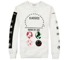 2017 männer kapuze durch luft langarm t-shirts graphic printed mann mode hip hop t-shirts männer hba clothing