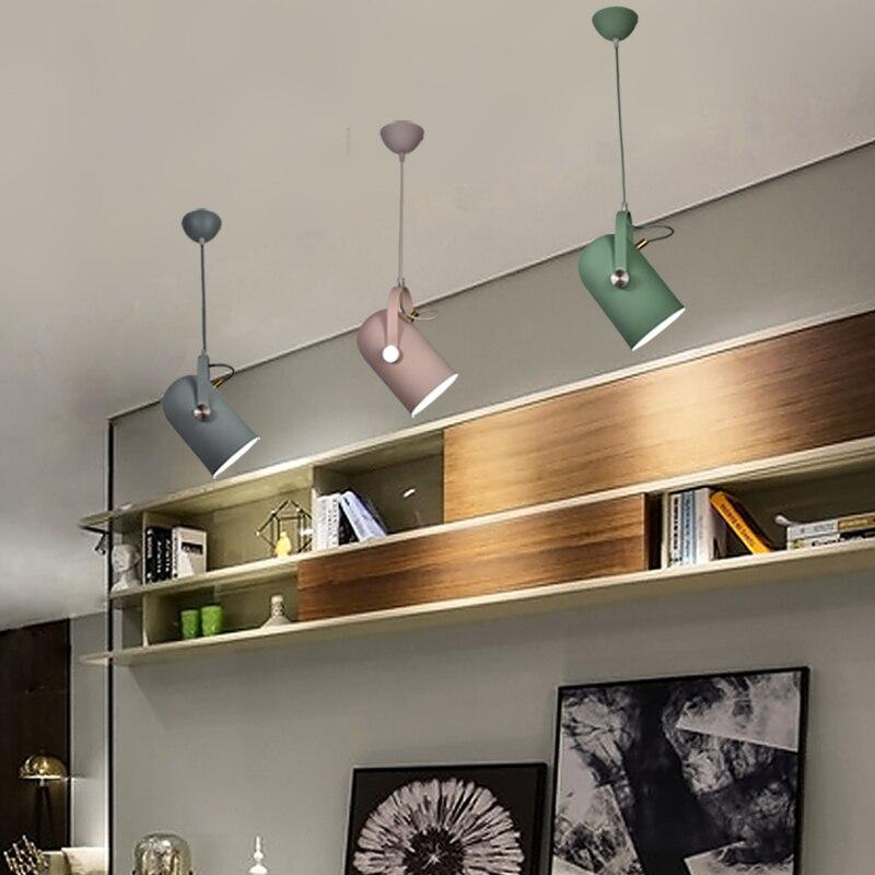 Nordique Minimalisme droplight Angle réglable E27 petit pendentif lumières, décoration d'intérieur lampe d'éclairage et Bar Vitrine spot light - 3
