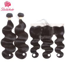 Beau Hair Malaysia Body Wave Human Hair 2 Bundles With Lace Frontal Deals Non Remy 3 PCS One Pack Malaysia Hair Weaving Bundles