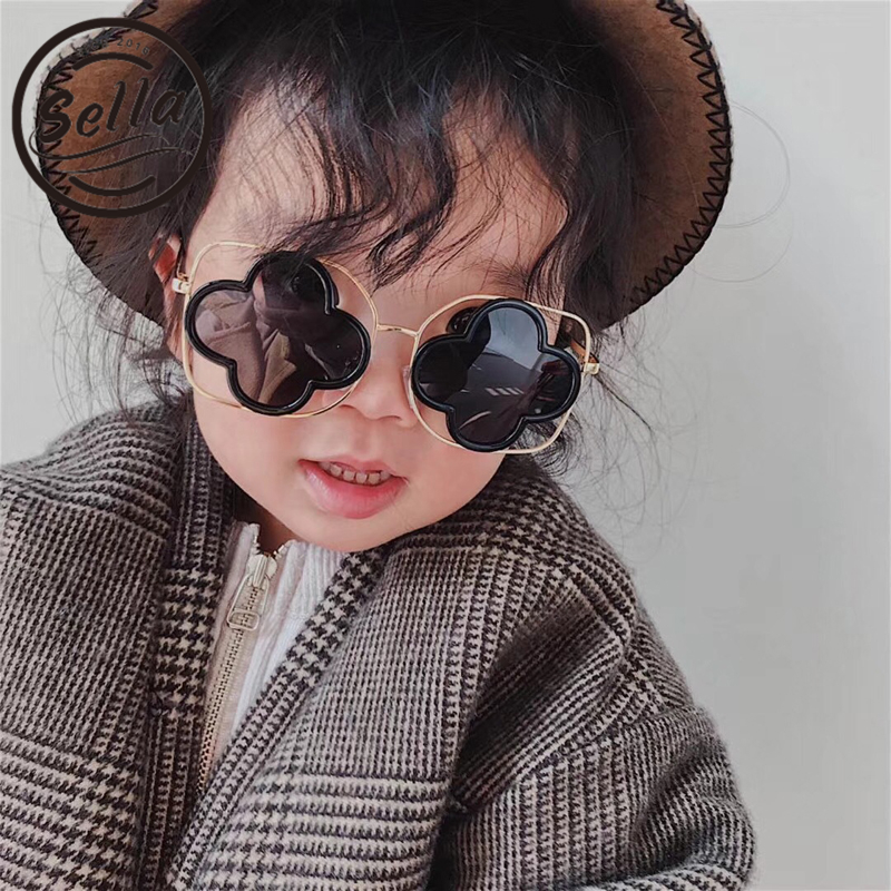 Sella 2018 Spring Summer New Boys Girls Personality Flower Metal Frame Polarized Sunglasses Ins Hot Cutie Children Eye Glasses