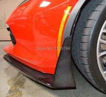 2014+ Corvette C7 Carbon Z07 style splitter winglets Carbon Fiber Stingray Z06
