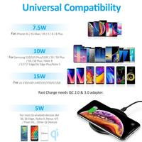 15W QI Quick Charging Wireless Fast Charger Usb Tpye C 10W QC 3.0 Charge For iPhone 11 Pro XS XR X 8 Samsung S10 S9 Xiaomi mi 9 5