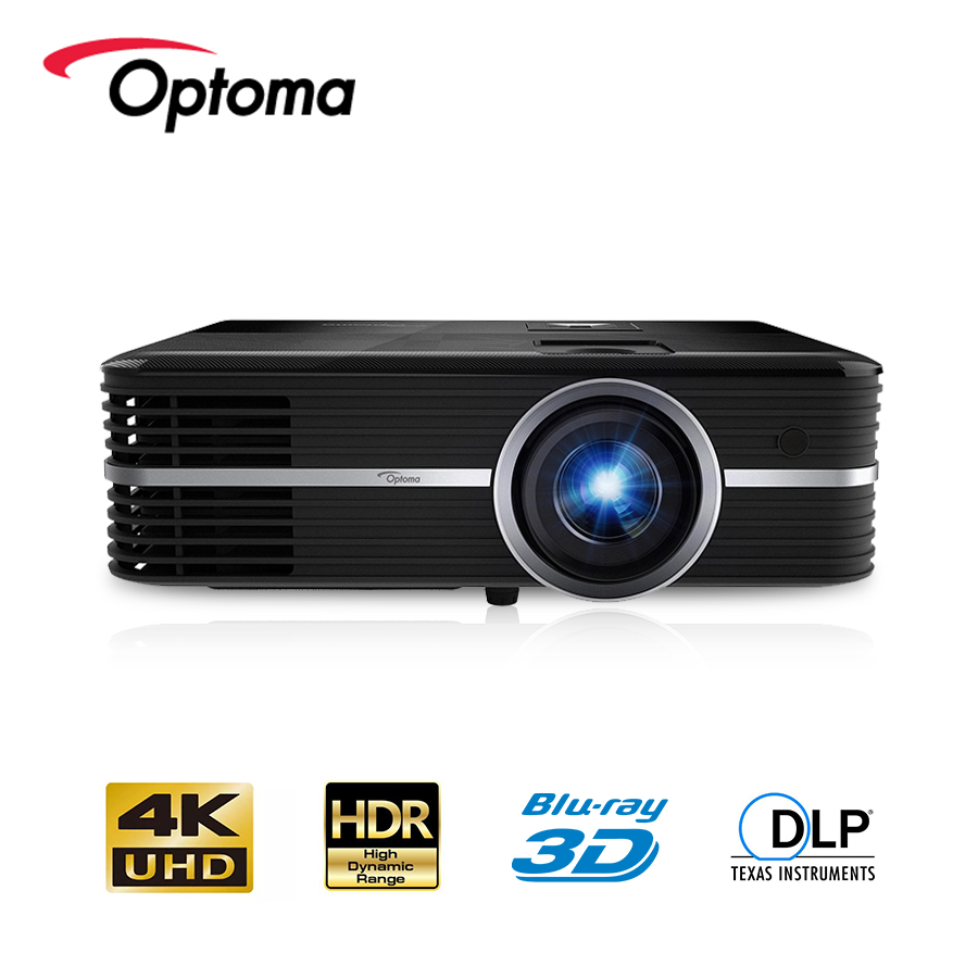 Optoma UHD588 4K Projector Blu-ray 3D UHD HDR DLP, 3840x2160 Resolution, 3000 lumens, LED HDMI USB Beamer for Home Cinema image