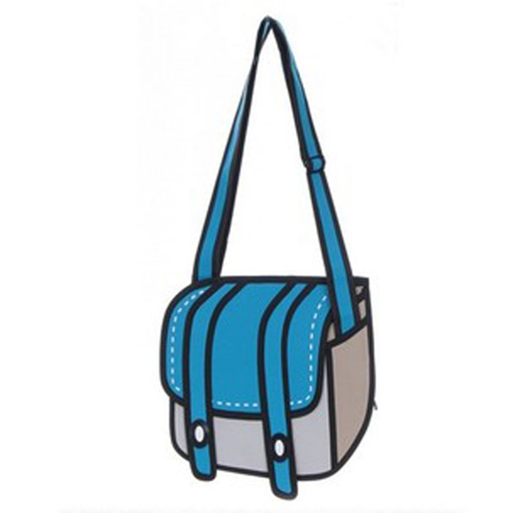 3D Style Drawing From Cartoon Paper Bag Comic 3D Messenger Bags-in  Crossbody Bags from Luggage & Bags on Aliexpress.com | Alibaba Group