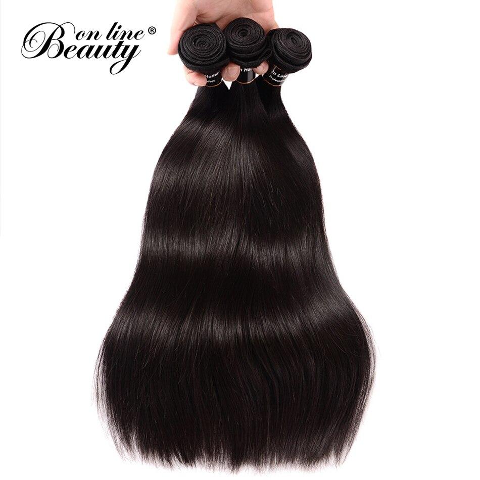 Малайзии прямые пучки волос 4 шт./лот человеческих волос Weave Связки Natural Цвет Реми 100% человеческих волос Extensios 8 - 26 Бол