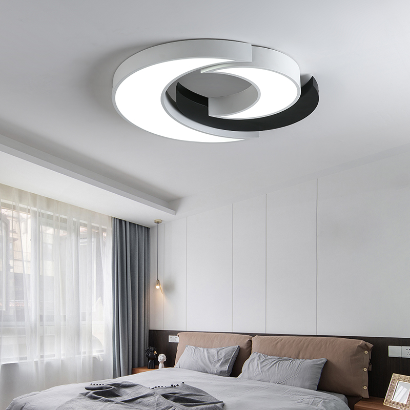 Ceiling Lights & Fans Orderly Round Acrylic Modern Led Ceiling Light For Living Room Bedroom Dining Table Office Meeting Room Black/white Ceiling Lamp Ceiling Lights