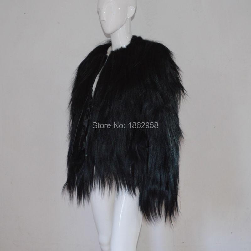 Cool Plus 01 Sj504 Noir Manteau Chèvre Luxe Design Semaine Jack Veste Femmes De Fourrure Mode SBIfnnqU
