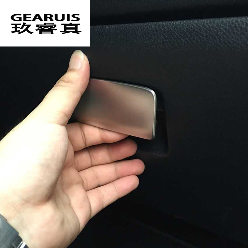 Car Copilot Glove font b box b font handle decoration cover trim For Mercedes Benz GLA