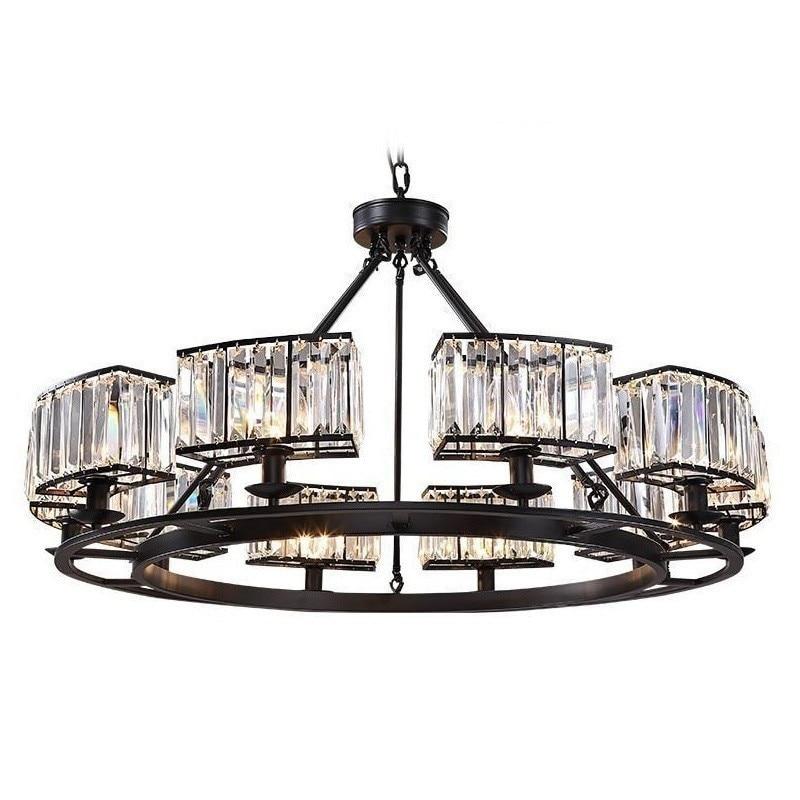 Cristal Hanglamp Industrieel Lampen Suspensão Lustre E Pendente Para Sala De Jantar Moderna Luminária Suspendu Lâmpada Pendurada