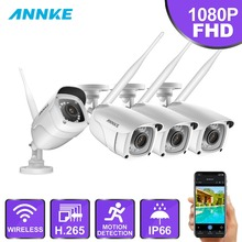 ANNKE FHD 1080P IP Wi-Fi H.265 Video Camera Surveillance System Bullet Weatherproof Cameras 100ft Night Vision With Smart IR P2P