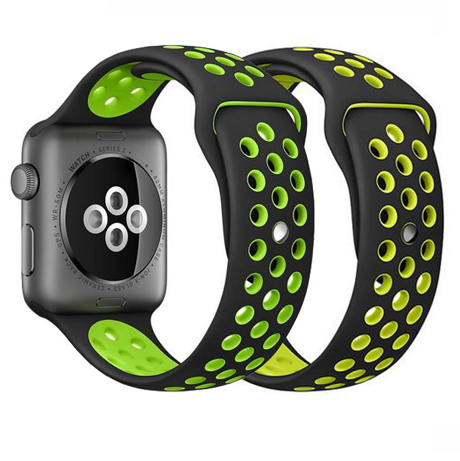 40mm 44mm series 4 double color Silicon Sports Band for