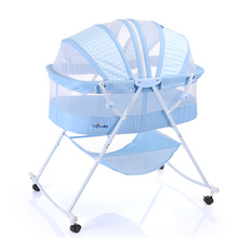 Infant sky Fold Baby Cradle Crib Bed Infant Bed Indoor Outdoor Newborn Bed SGS Was Approved
