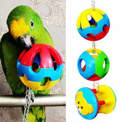 Pet Bird Bites Toy Parrot Chew Ball Toys For Parrots Swing Cage Hanging Cockatiel  Birds Toy Bird Supplies