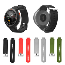 Silicone Strap for Xiaomi Huami Amazfit Verge Watch Strap Soft Silicone Watch Band Replacement Bands Bracelet Straps Sport Band