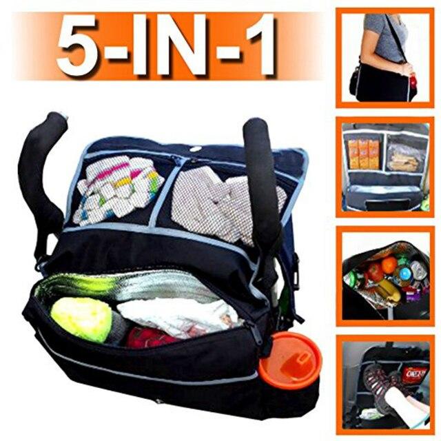 MDSTOP Black Baby Car Storage Bag Multifunction Waterproof Universal ...