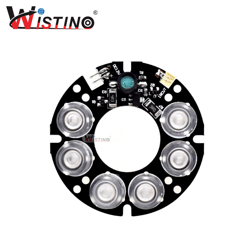 Infrared Light Board CTV Camera 6 Led IR Board Security Surveillance Infrared 6pcs Light Board Led Card Lamp Accessories Wistino