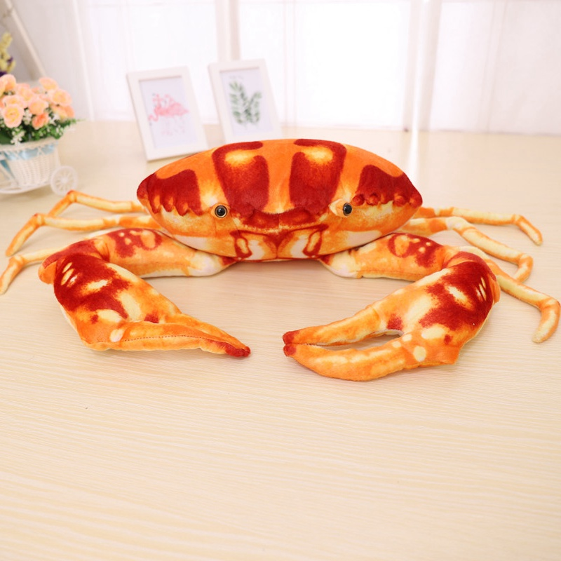 Simulation Crab Plush Toy Soft Cartoon Creative Crab Stuffed Animal Doll Home Decoration Toys Sofa Pillow Kid Boys Birthday Gift