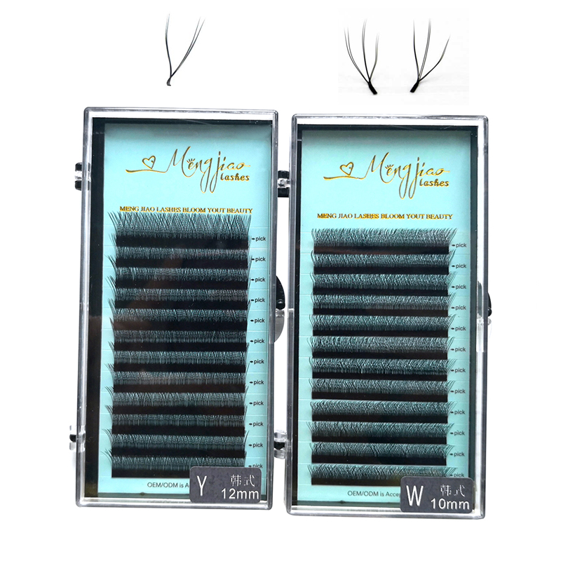 W Y Volume Eyelash Extension 9-12 Mm 3D Natural Lashes 0.07 Russian False Eyelashes  Soft Faux Mink Lashes ,Do Private Label