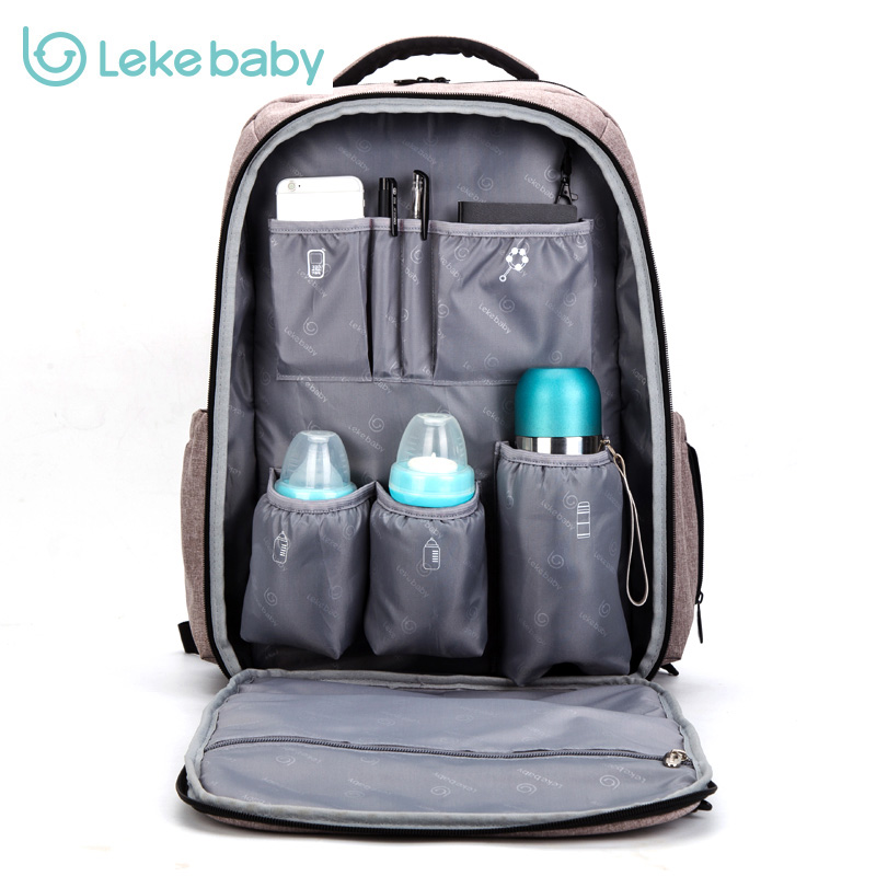 2018 Lekebaby baby diaper bag backpack travel stroller nappy bag mummy maternity for mom daddy baby bags maternal Brand bag Hook colorland brand baby stroller bag baby for mom diaper bag organizer nappy bags for pram maternity mother bags diaper backpack