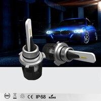 JKCOVER H7 LED Headlight H1 H7 H11 H4 Hi Lo Beam With COB Chip 6000K 60W