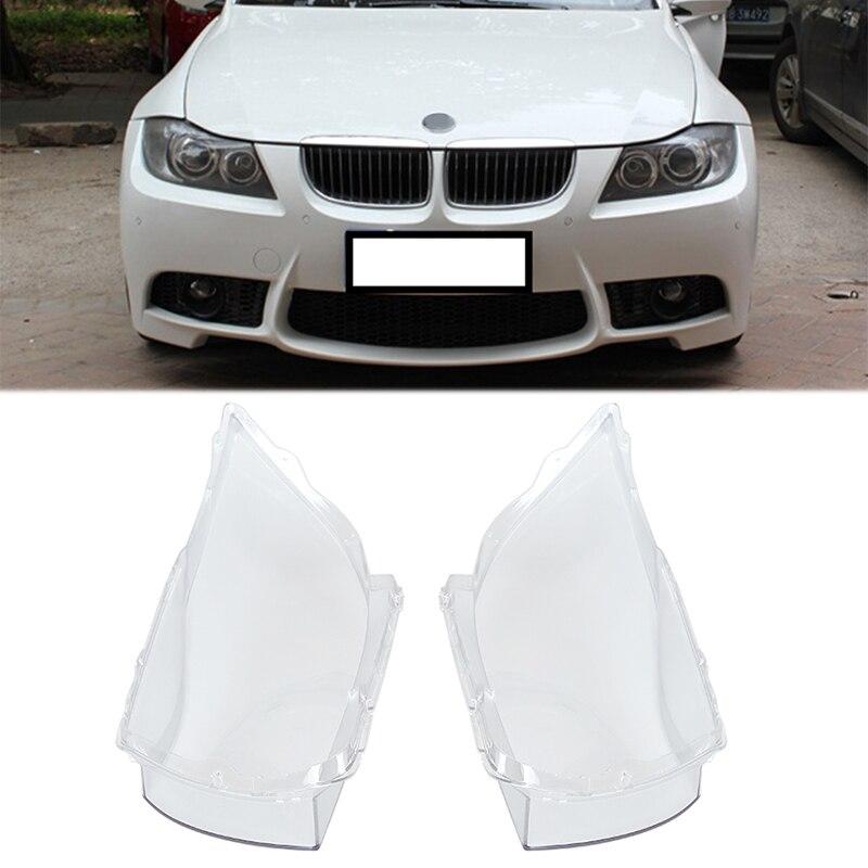 2 pièces phare avant de voiture phare clair lentille couvercle de remplacement pour BMW E90 2004-2007