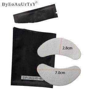 Image 5 - 50/100/200 זוגות חדש שחור נייר תיקוני עפעף תחת רפידות העין לאש לאש הארכת נייר תיקוני עין טיפים מדבקה לעטוף כלי
