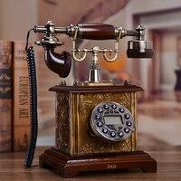 Европейские антикварные телефон АОН стационарный телефон Ретро Винтаж под старину украшения дома набрать номер
