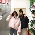2017 de invierno de Corea, el nuevo color del todo-fósforo, traje de un solo pecho, gruesas viento cálido, pan, dulce abrigo de algodón femenino