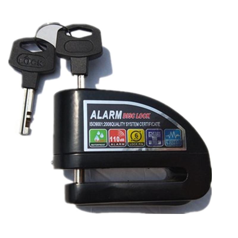 Bike Alarm Lock Motorcycle Disc Brake Lock 110db Loud Security Waterproof Bicycle Lock