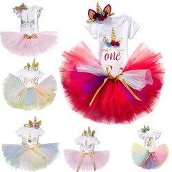 1 ano vestido de festa de aniversário para o bebê menina corte pouco princesa roupas meninas tutu bola vestido infantil batismo do bebê roupas