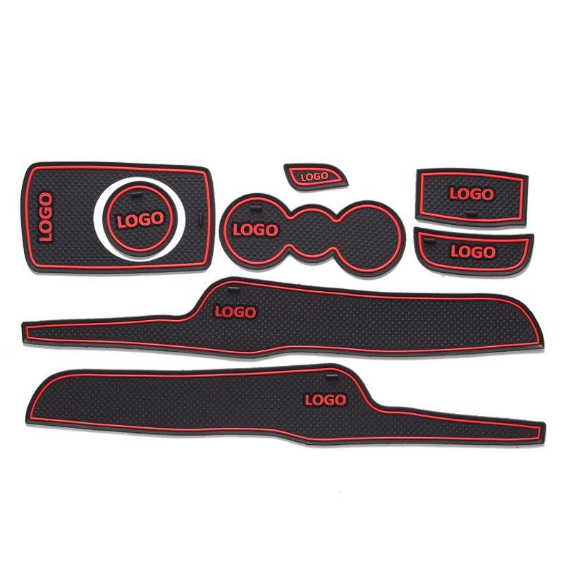 cheapest BACKAR Auto Car Anti-slip Cup Mat Door Slot Pad Interior Decorations For Ford Fiesta 2009 2010 2011 2012 2013 2014 Accessories
