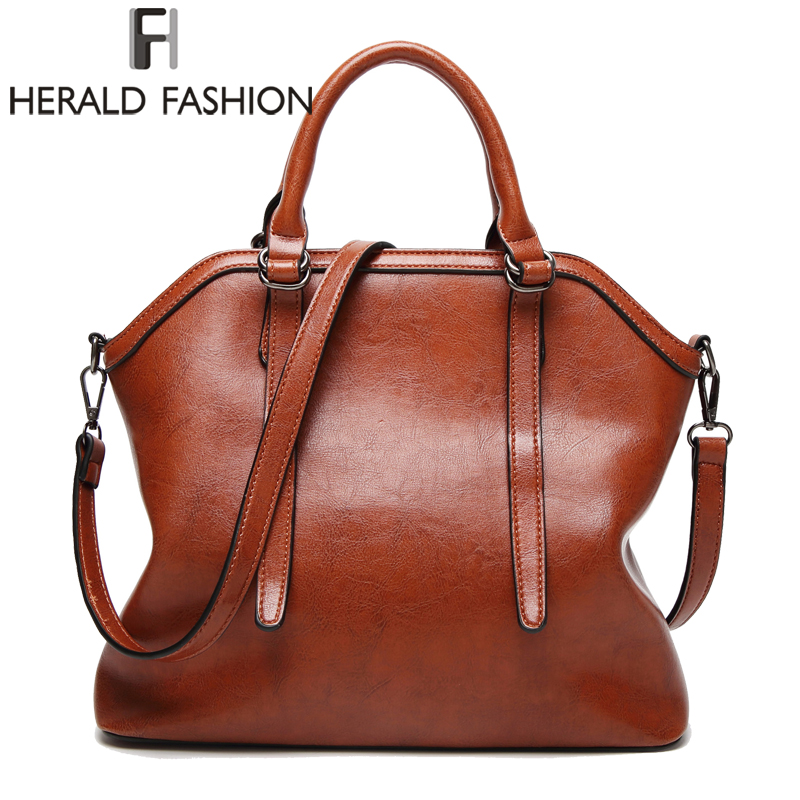 Herald Fashion Large Capacity Women TopHandle Bags Luxury Brand Tote Bag High Quality PU Leather Shoulder Bag For Women 2017 herald fashion women handbags large capacity tote bag high quality pu leather shoulder bag causal ladies crossbady bag