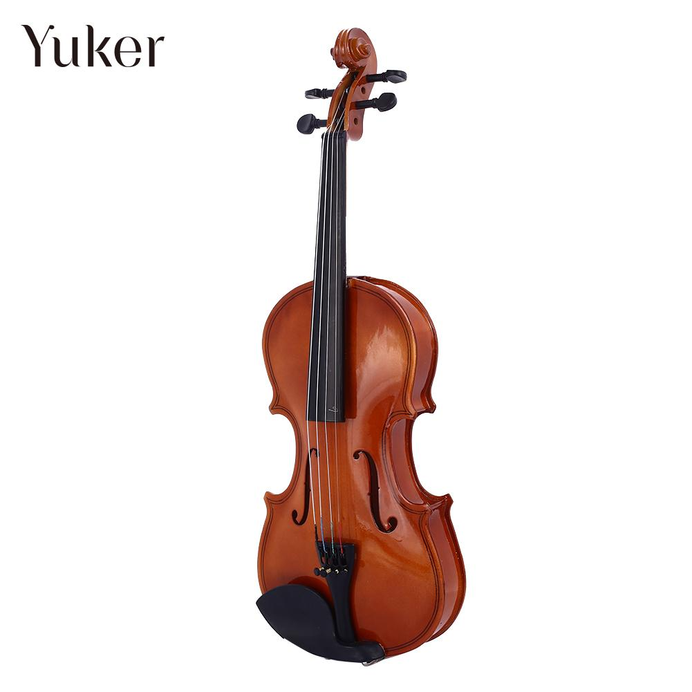 Beginner Violin Practical 4-6 Years Old Student 1/8 Violin Portable Resin Gifts Durable Tochigi Violin Bright Red Decoration image
