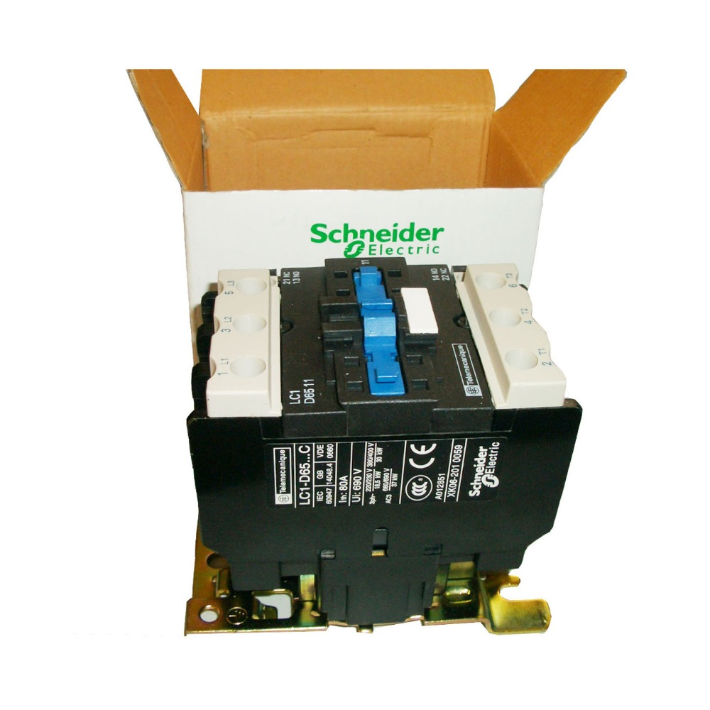 цена на LC1 D6511 AC Contactor 18A 3 Phase 3-Pole NO Coil Voltage 380V 220V 110V 36V 24V 50/60Hz Din Rail Mounted 3P+1NO Normal Open