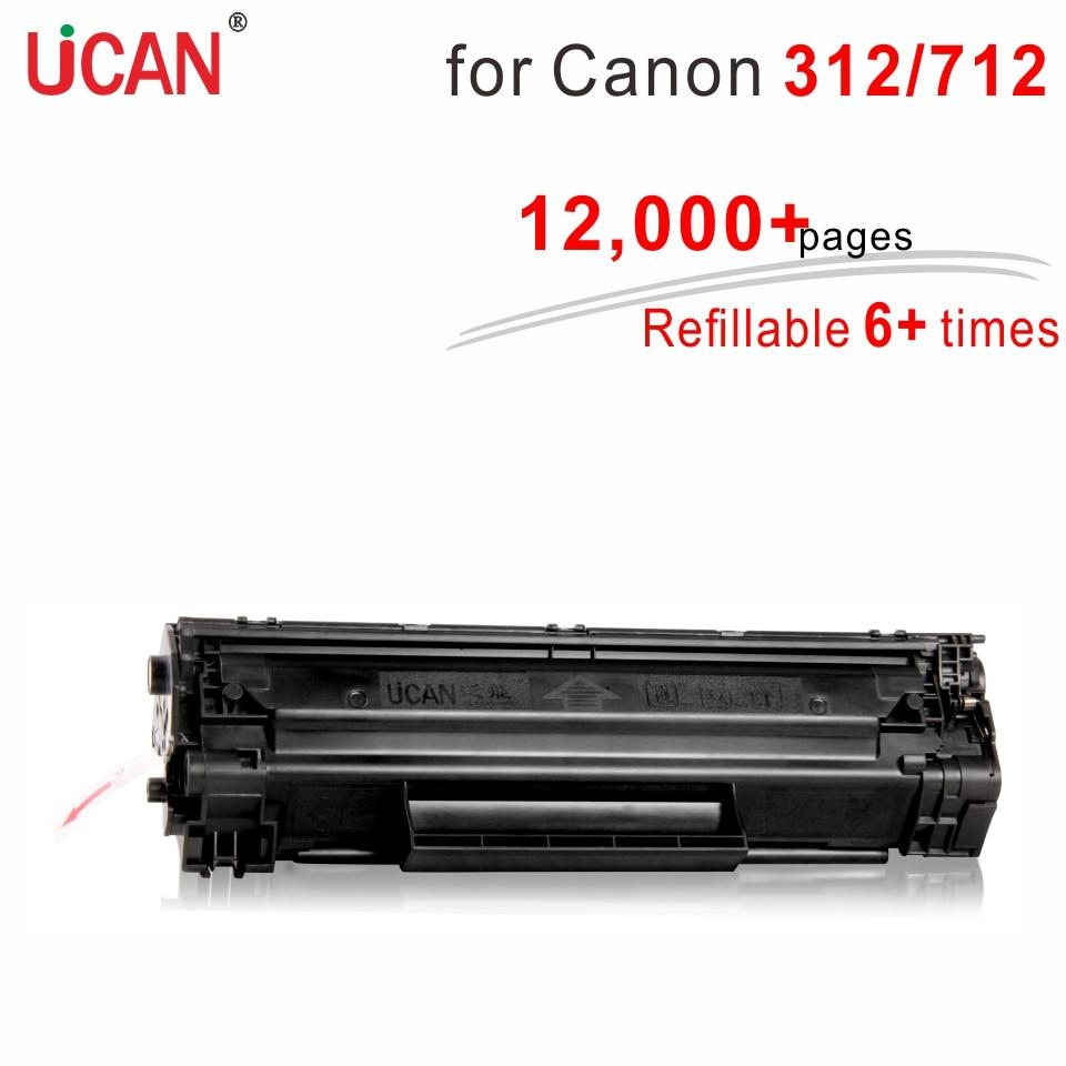 8 veces el cartucho de tóner 712 para Canon LBP3010 LBP3018 LBP3050 LBP3108 LBP3100 LBP3150 LBP3030 impresora láser