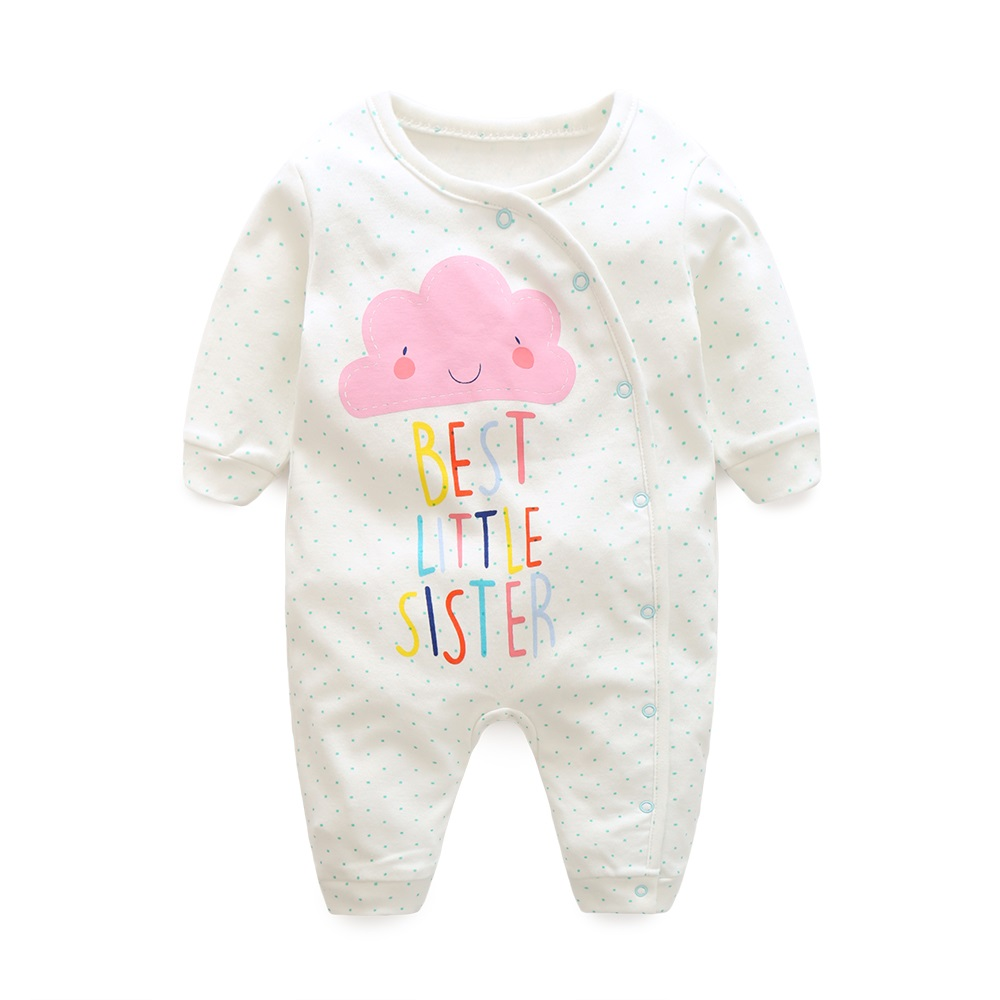 Hooyi 2018 Baby Girls Clothes Set Infant Rompers Bebe Ropa Long Sleeve Boys Romper Babywear Top Quality Newborn Jumpsuits puseky 2017 infant romper baby boys girls jumpsuit newborn bebe clothing hooded toddler baby clothes cute panda romper costumes